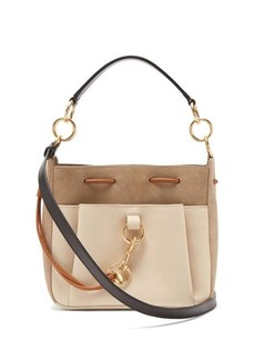See By Chloé Tony medium suede and leather bucket bag