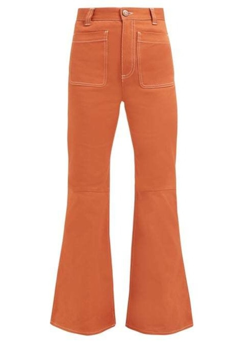 See By Chloé Topstitched flared jeans