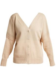 See By Chloé V-neck tri-colour cotton-knit cardigan