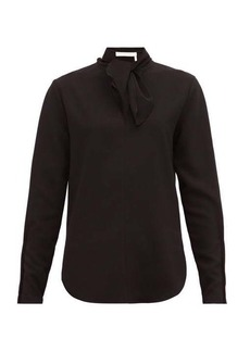 See By Chloé V-necktie crepe blouse