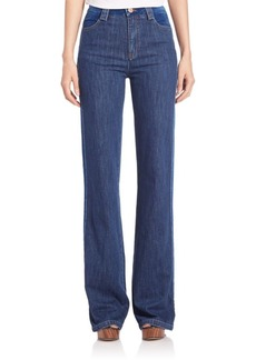 See by Chloé Washed Flare Jeans