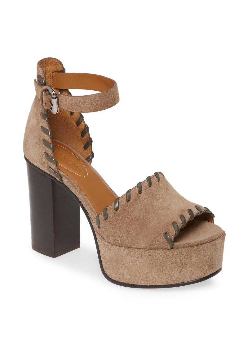 See by Chloé Whipstitch Platform Ankle Strap Sandal (Women)