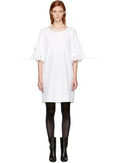 See by Chloé White Poplin Eyelet Dress