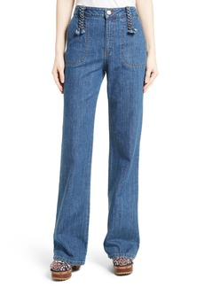 See by Chloé Wide Leg Denim Trousers