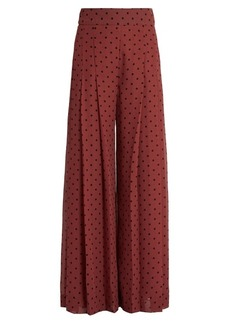 See By Chloé Wide-leg pleated culottes