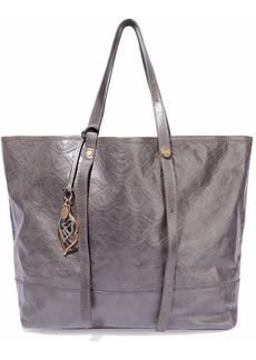See By Chloé Woman Andy Bisou Embossed Textured-leather Tote Dark Gray