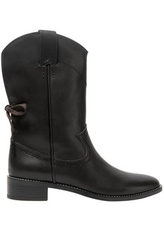 See By Chloé Woman Annika Lace-up Leather Boots Black