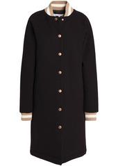 See By Chloé Woman Appliquéd Wool-blend Coat Dark Brown