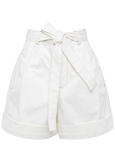 See By Chloé Woman Belted Denim Shorts Ivory