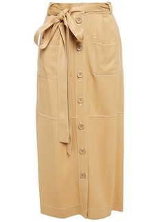 See By Chloé Woman Belted Twill Midi Skirt Sand