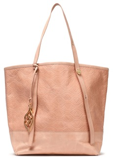 See By Chloé Woman Andy Bisou Embossed Washed-leather Tote Blush