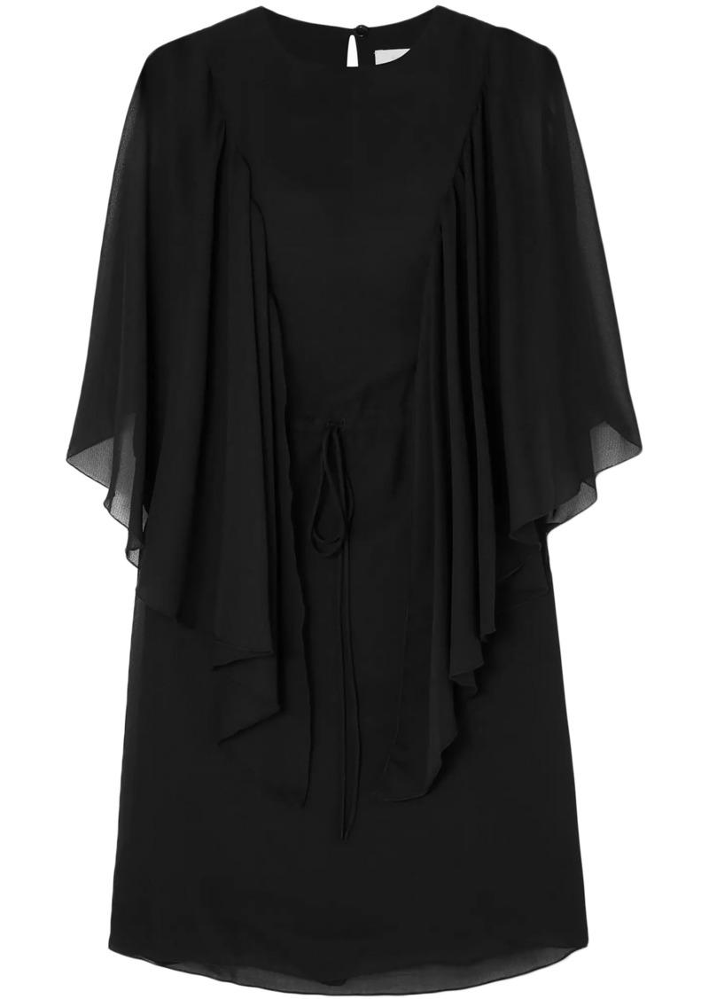 See By Chloé Woman Ruffled Chiffon Mini Dress Black