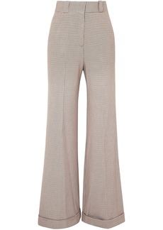 See By Chloé Woman Checked Jacquard Wide-leg Pants Taupe