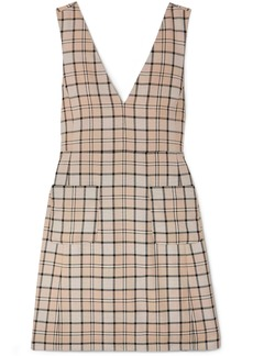 See By Chloé Woman Checked Woven Mini Dress Neutral