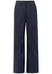 See By Chloé Woman City Twill Wide-leg Pants Navy