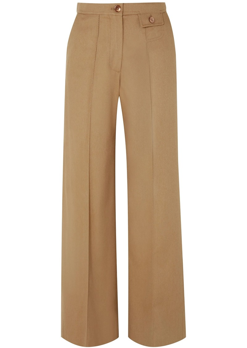 See By Chloé Woman City Twill Wide-leg Pants Light Brown