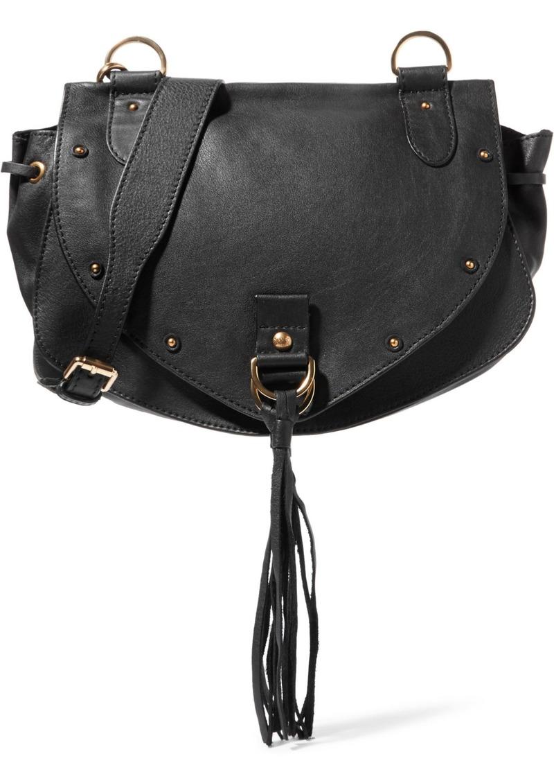 See By Chloé Woman Collins Medium Tasseled Leather Shoulder Bag Black