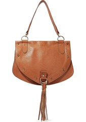 See By Chloé Woman Collins Medium Tasseled Pebbled-leather Shoulder Bag Camel