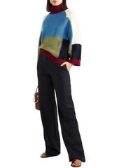 See By Chloé Woman Color-block Wool Turtleneck Sweater Multicolor