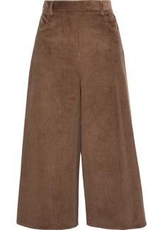 See By Chloé Woman Cotton-blend Corduroy Culottes Brown