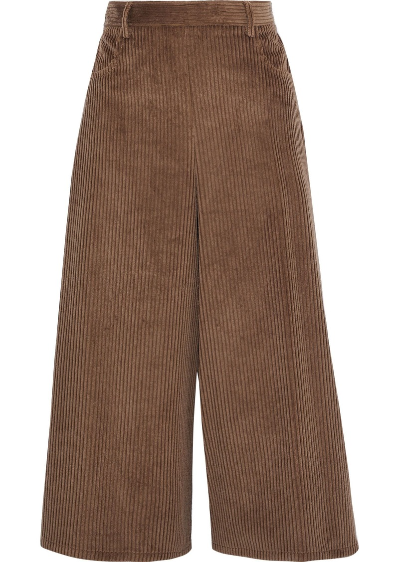 See By Chloé Woman Cotton-blend Corduroy Culottes Brown