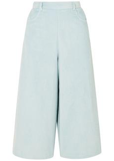 See By Chloé Woman Cotton-blend Corduroy Culottes Sky Blue