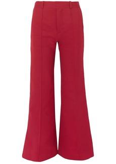 See By Chloé Woman Cotton-blend Twill Bootcut Pants Crimson