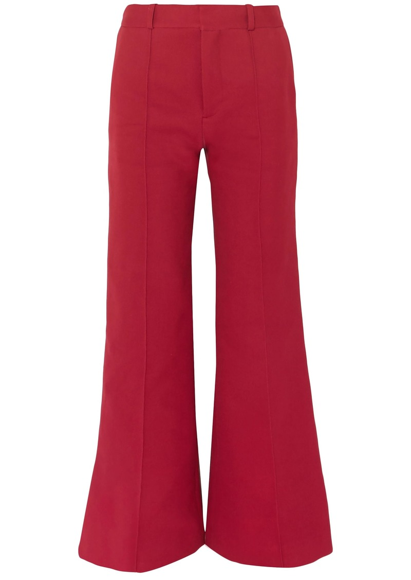 See By Chloé Woman Cotton-blend Twill Bootcut Pants Crimson