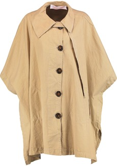 See By Chloé Woman Cotton-canvas Cape Sand