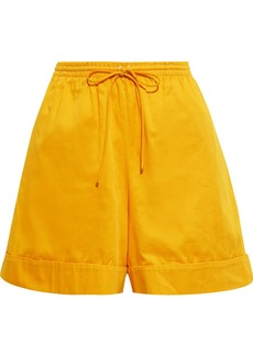 See By Chloé Woman Cotton-poplin Shorts Saffron
