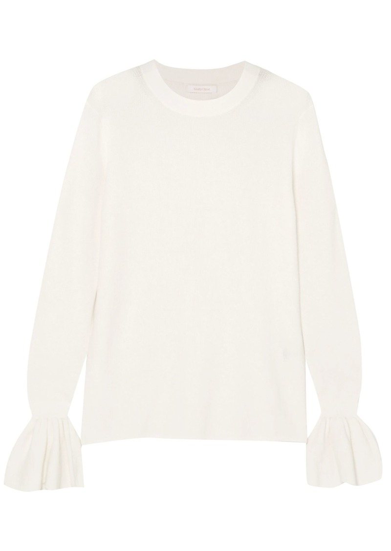 See By Chloé Woman Cotton Sweater White