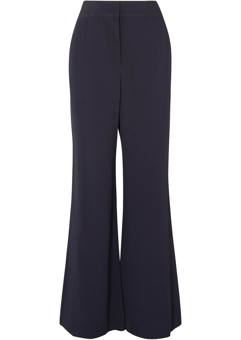 See By Chloé Woman Crepe Wide-leg Pants Storm Blue