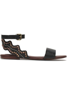 See By Chloé Woman Crystal-embellished Leather Sandals Black