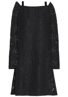 See By Chloé Woman Cutout Cotton-blend Corded Lace Dress Black