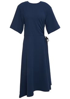 See By Chloé Woman Cutout Gathered Stretch-crepe Dress Navy