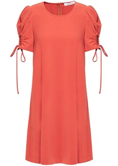 See By Chloé Woman Ruched Crepe Mini Dress Red