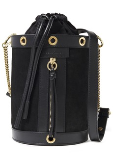 See By Chloé Woman Debbie Leather-trimmed Suede Bucket Bag Black