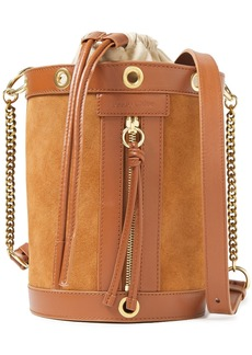 See By Chloé Woman Debbie Leather-trimmed Suede Bucket Bag Camel