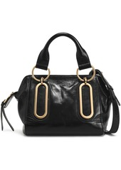 See By Chloé Woman Paige Small Washed-leather Shoulder Bag Storm Blue