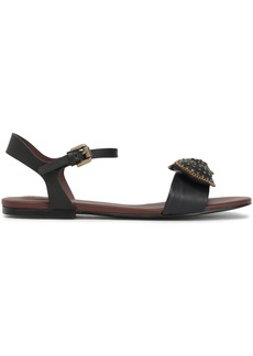 See By Chloé Woman Embellished Leather Sandals Black