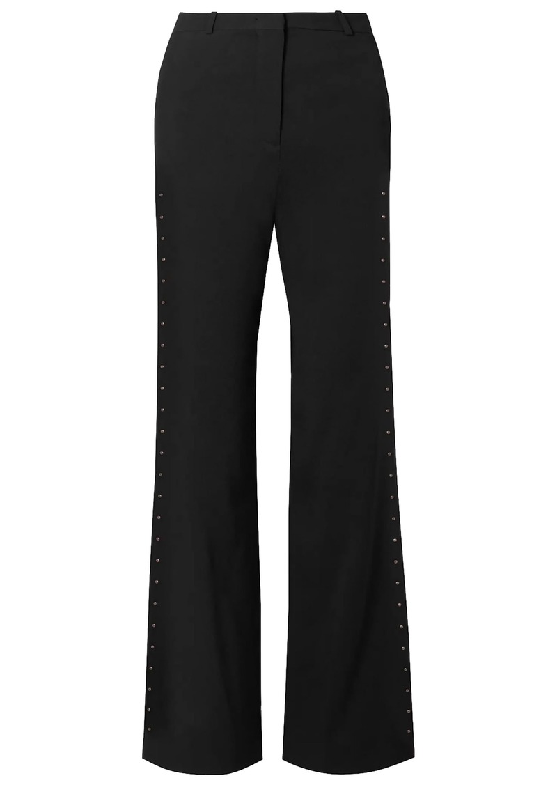 See By Chloé Woman Embellished Stretch-crepe Flared Pants Black