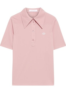 See By Chloé Woman Embroidered Stretch Polo Shirt Antique Rose