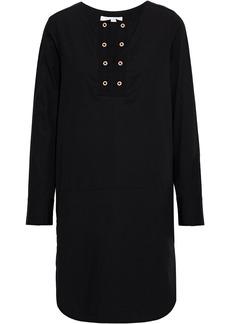 See By Chloé Woman Eyelet-embellished Cotton-poplin Shirt Dress Black