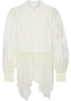 See By Chloé Woman Gathered Organza Blouse Ivory