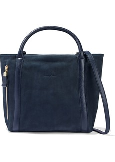See By Chloé Woman Harriet Leather-trimmed Nubuck Tote Midnight Blue
