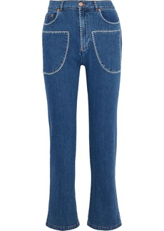 See By Chloé Woman High-rise Bootcut Jeans Mid Denim