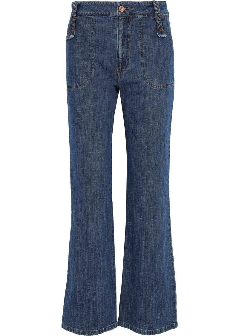 See By Chloé Woman High-rise Flared Jeans Mid Denim
