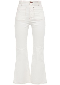 See By Chloé Woman High-rise Kick-flare Jeans White