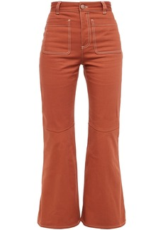 See By Chloé Woman High-rise Kick-flare Jeans Brick