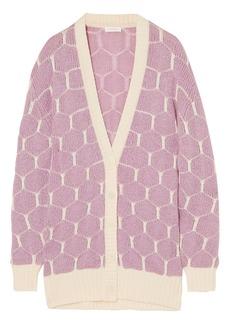 See By Chloé Woman Jacquard-knit Cardigan Lilac